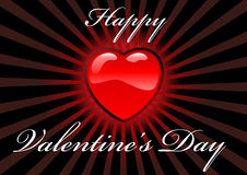 Valentine's day. Abstract vector illustration of a valentine's heart with the text happy valentine's day Stock Photo