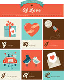 Valentine's day ABC, alphabet poster Stock Image