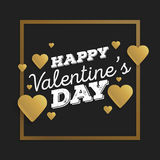 Valentine`s day abstract background with cut paper golden heart. Vector illustration.  Stock Photos
