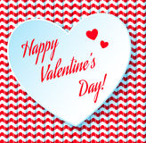 Valentine's day abstract background with cut paper. Heart Stock Photo