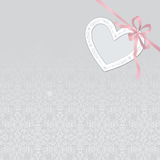 Valentine's day abstract background with cut paper heart. Can be. Used as greeting card or wedding  invitation Stock Photo