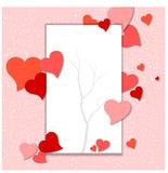 Valentine's day abstract background with cut paper heart. Illustration of Valentine's day abstract background with cut paper heart Stock Image