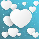 Valentine's day abstract background with cut paper heart. Vector illustration Royalty Free Stock Image
