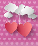 Valentine's day abstract background. With cut paper heart. Vector illustration vector illustration