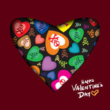 Valentine's day abstract background with cut paper heart. Vector illustration Stock Photography