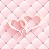 Valentine s day abstract background with cut paper heart. Vector illustration Stock Photo