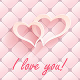 Valentine s day abstract background with cut paper heart. Vector illustration Stock Photography