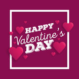 Valentine`s day abstract background with cut paper heart. Vector illustration.  Royalty Free Stock Image