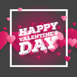 Valentine`s day abstract background with cut paper heart. Vector illustration.  Royalty Free Stock Photography