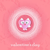Valentine`s day abstract background with cut paper heart. Royalty Free Stock Photography