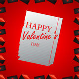 Valentine`s day abstract background Stock Image