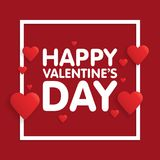 Valentine's day abstract background with cut paper heart. Vector illustration.  Royalty Free Stock Photos