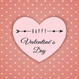 Valentine`s day abstract background with cut paper hearts. Vector illustration Royalty Free Stock Image