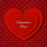 Valentine`s day abstract background with cut paper hearts. Royalty Free Stock Photography