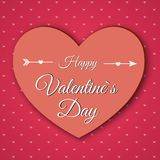 Valentine`s day abstract background with cut paper hearts. Royalty Free Stock Photo