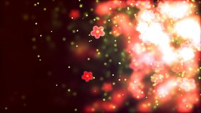 Valentine`s day abstract background, flying flowers. Abstract Background with nice flying flowers Stock Photography