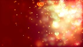 Valentine`s day abstract background, flying hearts. Abstract Background with nice flying hearts Stock Images