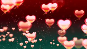 Valentine`s day abstract background, flying hearts. Abstract Background with nice flying hearts Royalty Free Stock Image