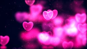Valentine`s day abstract background, flying hearts. Abstract Background with nice flying hearts Royalty Free Stock Images