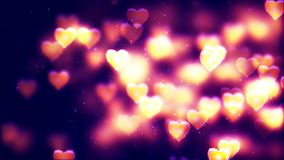 Valentine`s day abstract background, flying hearts. Abstract Background with nice flying hearts Royalty Free Stock Photo