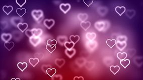 Valentine`s day abstract background, flying hearts. Abstract Background with nice flying hearts Royalty Free Stock Photography