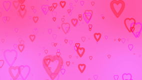 Valentine`s day abstract background,flying hearts and particles.Loopable. Valentines day abstract background,flying hearts and particles.Loopable stock video footage