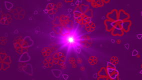 Valentine`s day abstract background,flying hearts and particles.Loopable. Valentines day abstract background,flying hearts and particles.Loopable stock video