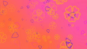 Valentine`s day abstract background,flying hearts and particles.Loopable. Valentines day abstract background,flying hearts and particles.Loopable stock footage