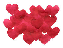 Valentine`s day abstract background with hearts isolated on white. Royalty Free Stock Images