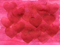 Valentine`s day abstract background with hearts isolated on white.  Royalty Free Stock Photo