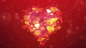 Valentine's day abstract background,loopable. Valentine's day abstract background,flying hearts and particles.Loopable stock video
