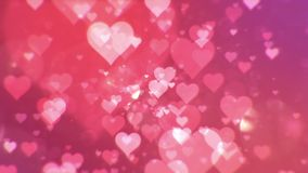 Valentine's day abstract background,loopable. Valentine's day abstract background,flying hearts and particles.Loopable stock video footage