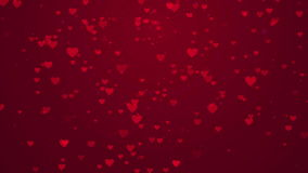 Valentine'S Day. Abstract background made of pink rotating hearts, Valentine'S Day stock video