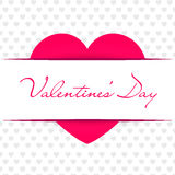 Valentine`s day abstract background. Vector illustration. Red Stock Photography