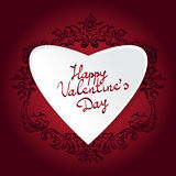 Valentine's day abstract background with vintage pattern heart. Royalty Free Stock Photos