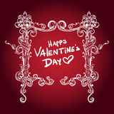 Valentine's day abstract background with vintage pattern heart. Stock Photography