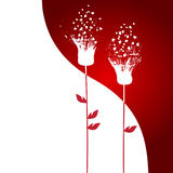 Valentine's day abstract with dandelion Stock Image
