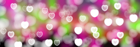 Valentine's Day Abstract hearts background Stock Photos