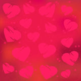 Valentine's day abstract, red hearts Royalty Free Stock Photography