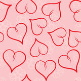 Valentine's day abstract seamless background Stock Image