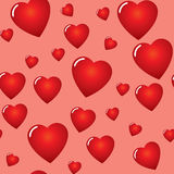 Valentine's day abstract seamless background Stock Photo