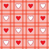 Valentine's day abstract seamless background Stock Images