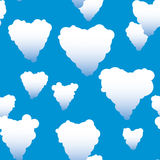 Valentine's day abstract seamless background Royalty Free Stock Images