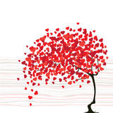 Valentine's day abstract with tree Stock Image