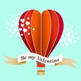 Valentine's day air balloon vector illustration Stock Images