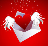 Valentine's day air heart in envelope Stock Photo