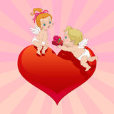 Valentine's Day Angel gift Stock Images