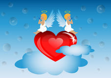 Valentine`s day Angels Royalty Free Stock Images