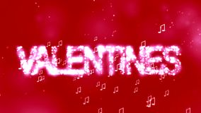 Valentine's day animation background. stock video footage