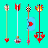 Valentine`s day arrows Stock Image